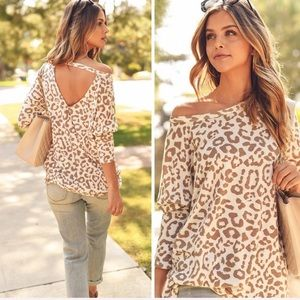 Slouchy Leopard Print Top